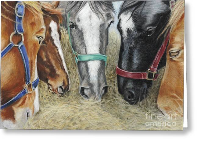 Rescue Pastels Greeting Cards - Between The Belgians Greeting Card by Susan Monty