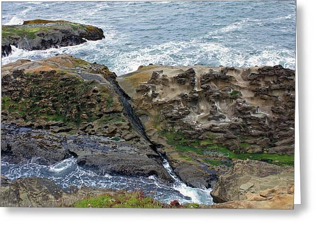 Pacific Ocean Prints Greeting Cards - Between The Rocks Greeting Card by Kami McKeon