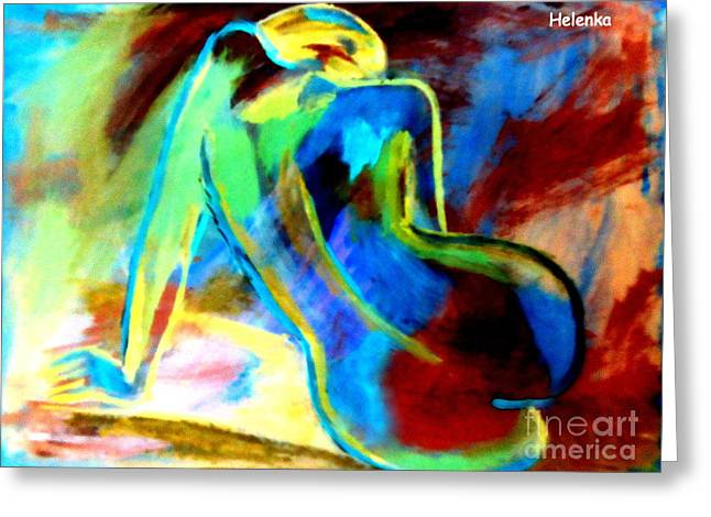 Print On Canvas Greeting Cards - Between the shadow and the soul Greeting Card by Helena Wierzbicki