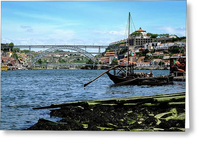 Between Two Cities Greeting Card by Marco Oliveira