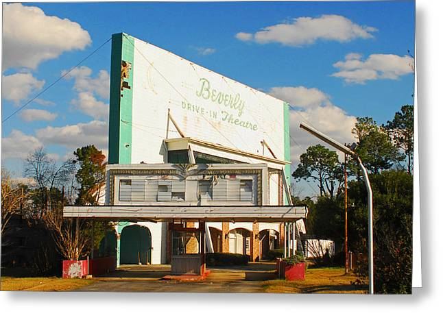 Outdoor Theater Greeting Cards - Beverly Drive In Greeting Card by Wayne Archer