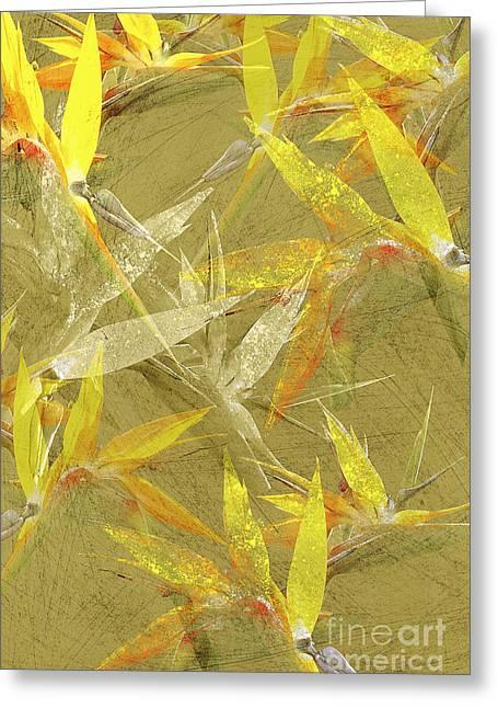 Floral Digital Art Digital Art Greeting Cards - Bevy Greeting Card by Kaypee Soh - Printscapes
