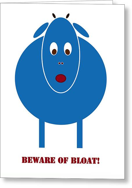 Stomach Greeting Cards - Beware of Bloat Greeting Card by Frank Tschakert