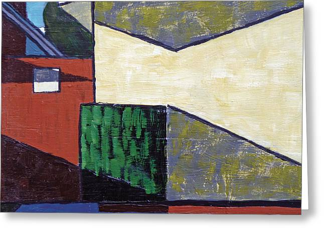 Richard Diebenkorn Greeting Cards - Beware of Dog Abstract Greeting Card by Michael Ward