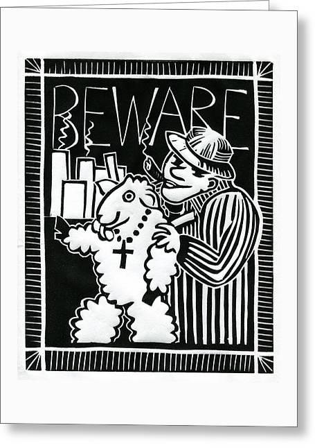 Congressman Greeting Cards - Beware Greeting Card by Sheryl Karas
