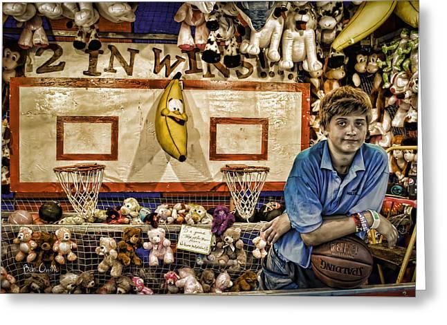 Beware The Smiling Banana  Greeting Card by Bob Orsillo