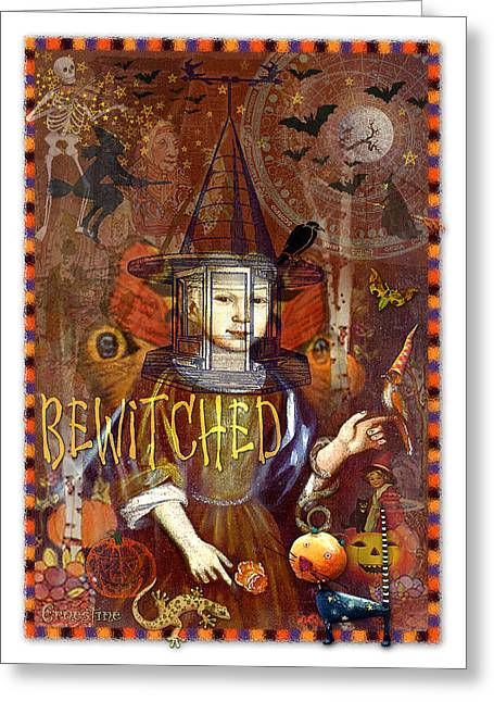 Samhain Greeting Cards - Bewitched Greeting Card by Ernestine Grindal