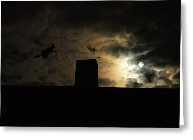 Witches Broom Greeting Cards - Bewitched Greeting Card by Ross Powell