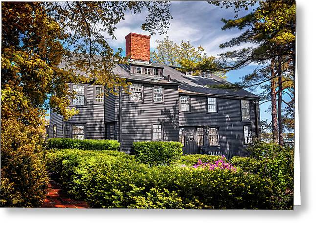 Frame House Photographs Greeting Cards - Bewitching Salem Greeting Card by Carol Japp