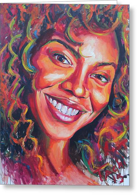Souls Greeting Cards - Beyonce Greeting Card by Tachi Pintor