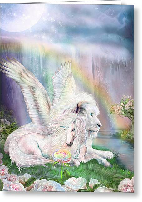 Beyond Fantasy Greeting Card by Carol Cavalaris
