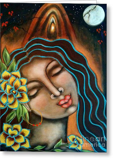 The Sacred Feminine Greeting Cards - Beyond the Beyond Greeting Card by Maya Telford