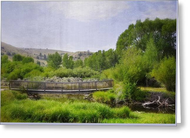 ist Photographs Greeting Cards - Beyond The Bridge Greeting Card by Image Takers Photography LLC - Laura Morgan