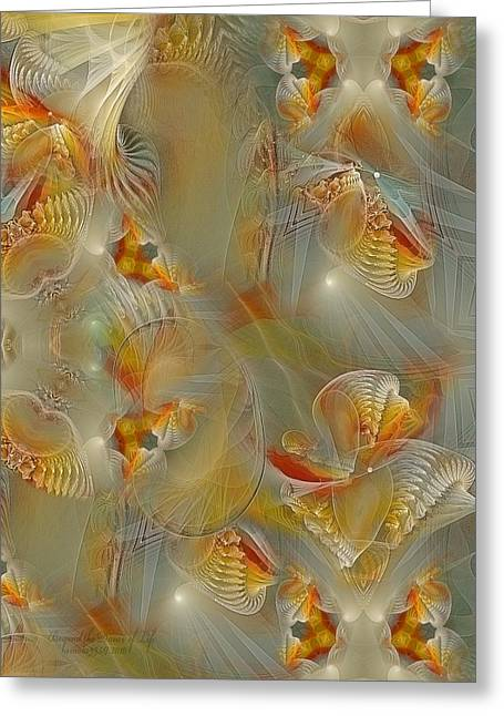 Best Sellers -  - Abstract Digital Pastels Greeting Cards - Beyond the Dance of Life Greeting Card by Gayle Odsather