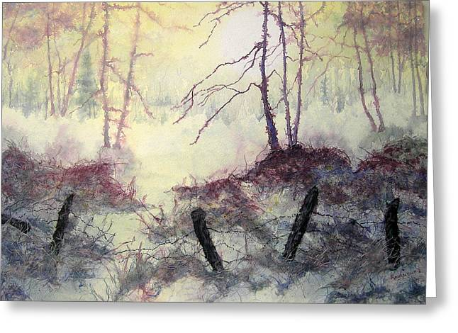 Nature Scene Greeting Cards - Beyond the Fence Greeting Card by Carolyn Rosenberger
