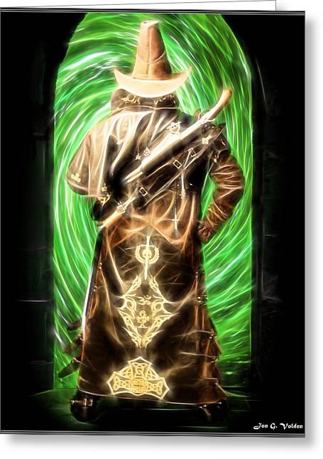Famous Artist Greeting Cards - Beyond The Green Door Greeting Card by Jon Volden