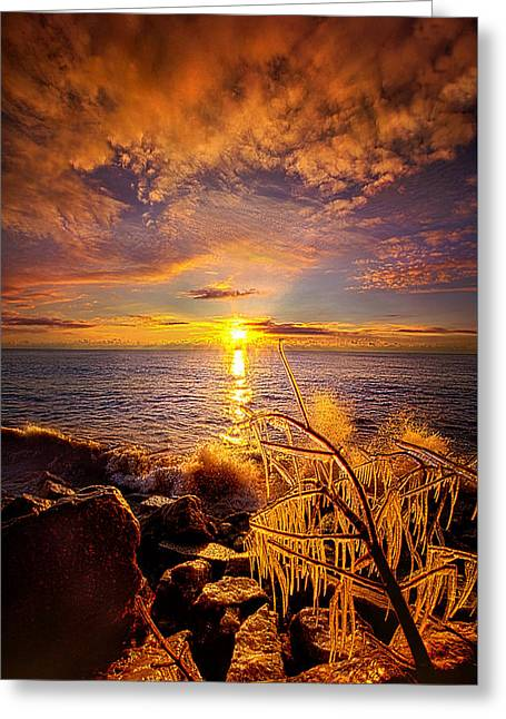 Beyond The Grid Greeting Card by Phil Koch