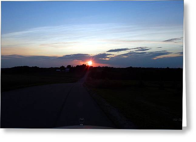 Gloaming Greeting Cards - Beyond the Hood Ornament Greeting Card by Wild Thing