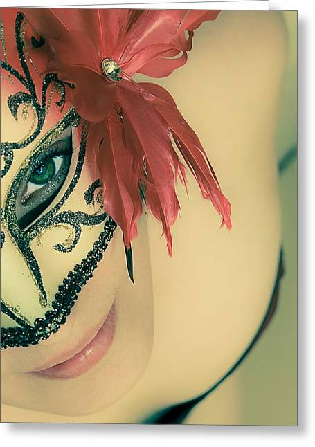 Luminous Body Greeting Cards - Beyond the Mask #02 Greeting Card by Loriental Photography