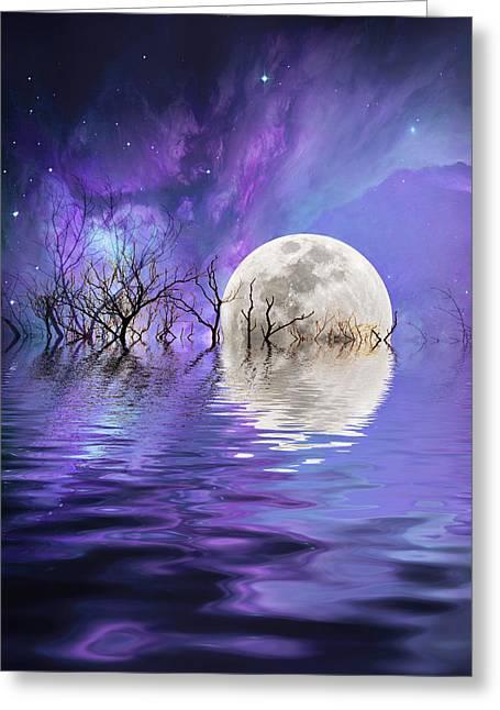 Star Nursery Greeting Cards - Beyond the nebula Greeting Card by Sharon Lisa Clarke
