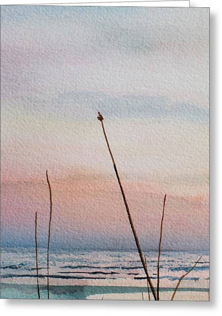 Sand Dunes Paintings Greeting Cards - Beyond The Sand 2 Greeting Card by Hanne Lore Koehler