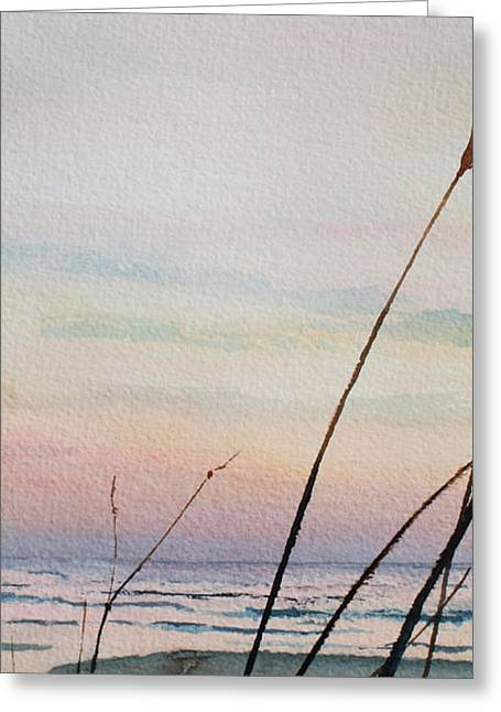 Sand Dunes Paintings Greeting Cards - Beyond The Sand 3 Greeting Card by Hanne Lore Koehler
