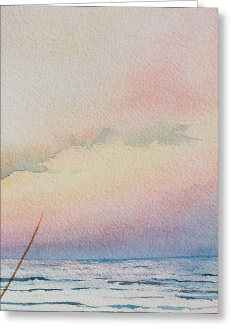 Sand Dunes Paintings Greeting Cards - Beyond The Sand 5 Greeting Card by Hanne Lore Koehler
