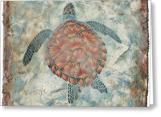 Beyond The Sea II Greeting Card by Danielle Perry