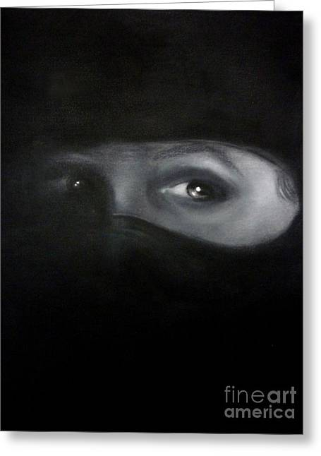 Veiled Drawings Greeting Cards - Beyond The Veil Greeting Card by Paul Horton