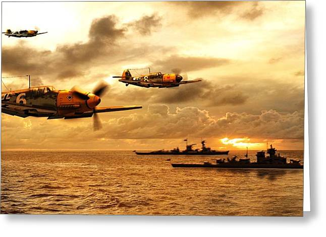 Me-109 Greeting Cards - Bf 109 German WW2 Greeting Card by John Wills