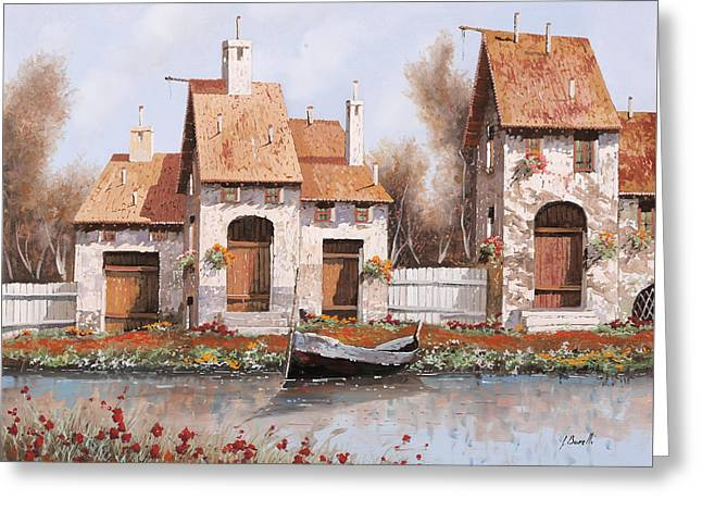 River Boat Greeting Cards - Bianca Greeting Card by Guido Borelli
