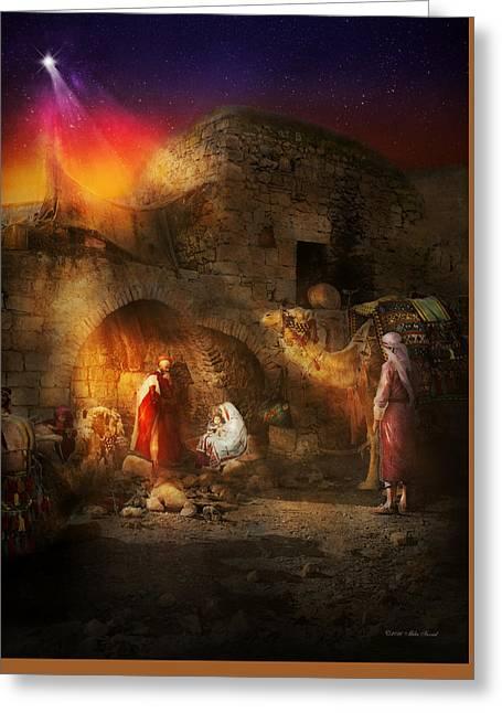 Bible - Jesus - Seeking The Christ Child 1920 Greeting Card by Mike Savad