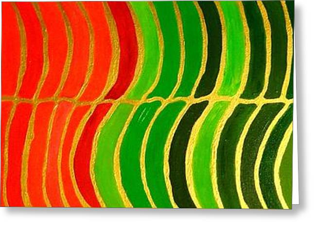 Stability Horizontal Banner Greeting Card by Karen Jane Jones