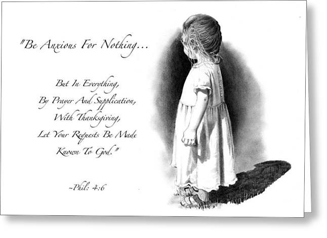 Joyce Geleynse Greeting Cards - Bible Verse With Drawing of Child Greeting Card by Joyce Geleynse