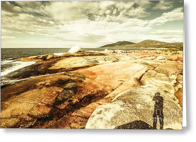 Bicheno Blowhole Tourist Greeting Card by Jorgo Photography - Wall Art Gallery