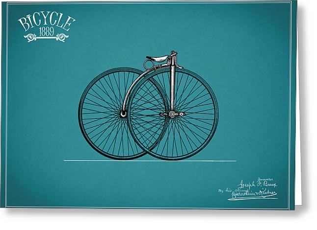 Vintage Bicycle Photographs Greeting Cards - Bicycle 1889 Greeting Card by Mark Rogan