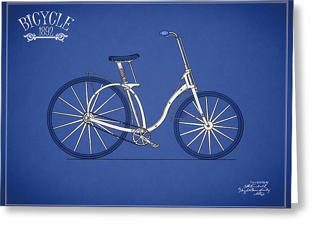 Vintage Bicycle Photographs Greeting Cards - Bicycle 1892 Greeting Card by Mark Rogan