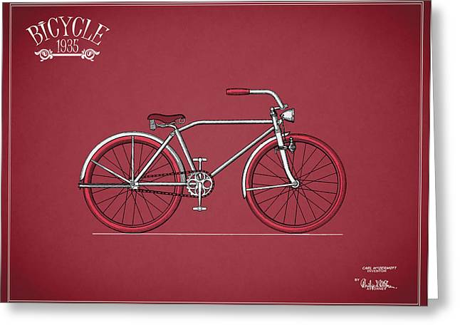 Vintage Bicycle Photographs Greeting Cards - Bicycle 1935 Greeting Card by Mark Rogan
