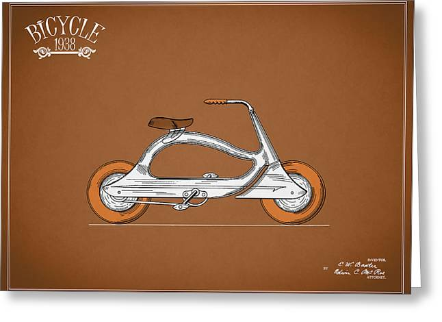 Vintage Bicycle Photographs Greeting Cards - Bicycle 1938 Greeting Card by Mark Rogan