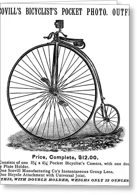 Bicycle Camera Ad, 1887 Greeting Card by Granger