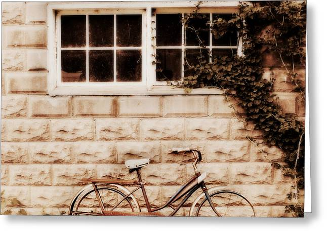 Country Chic Greeting Cards - Bicycle Greeting Card by Julie Hamilton