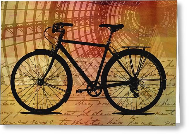 Bicycle Life Greeting Card by Nancy Merkle