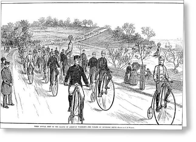 Bicycle Meet, 1883 Greeting Card by Granger