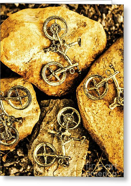 Bicycle Obstacle Course Greeting Card by Jorgo Photography - Wall Art Gallery