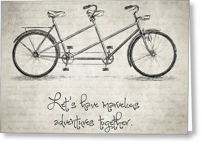 Bicycle Quote Greeting Card by Taylan Soyturk