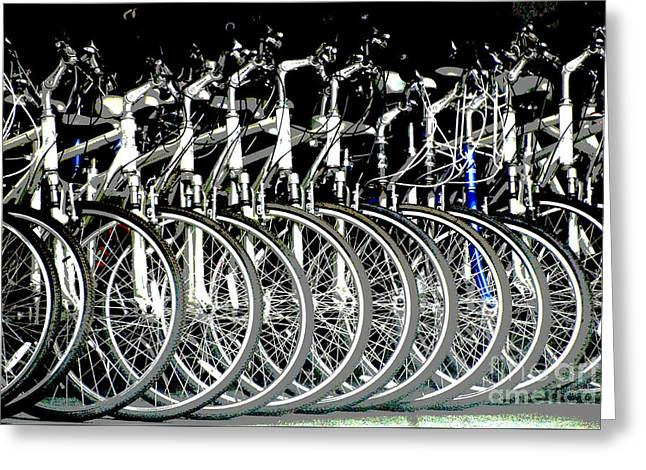 Juvenile Licensing Greeting Cards - Bicycle Shop Art Visions Greeting Card by Anahi DeCanio