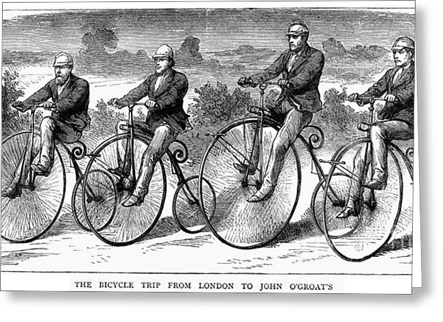 Groat Greeting Cards - Bicycling, 1873 Greeting Card by Granger