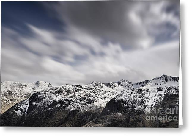 Snow Capped Greeting Cards - Bidean nam Bian - Glen Coe Greeting Card by Rod McLean