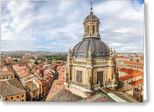 Southern Province Greeting Cards - Bierdview of historic city of Salamanca Greeting Card by JR Photography