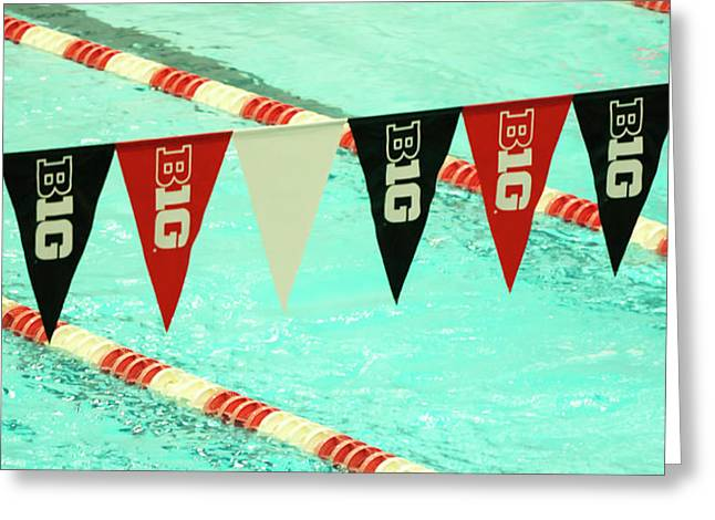 Big 10 Pennants - Uw Madison  Greeting Card by Steven Ralser